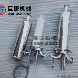 巨捷�C械�l生�304 316L 快�b式微孔膜�^�V器