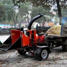 车挂式大功率柴油树枝粉碎机园林绿化专用树枝树杆粉碎机