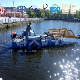 湖北孝感水草收割船、水葫芦打捞设备、小型割草船