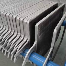 BMY800铸铁板框压滤机 机械压紧铸铁压滤机