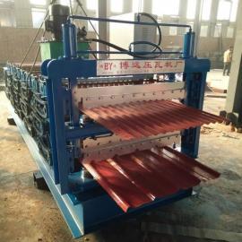 北京全自动双层压瓦机厂家 毕节彩钢瓦三层压瓦机成型设备