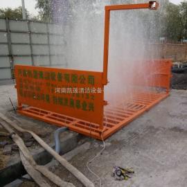 山东青岛建筑工地出土车辆工程洗车机-工地平板式洗轮机