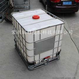 江苏IBC集装桶 常州1000L塑料吨装桶厂家 滚塑工艺一次成型