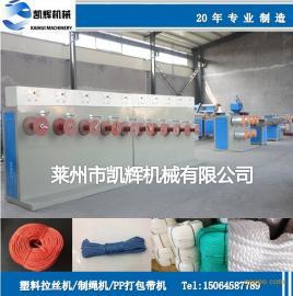 专业生产塑料圆丝拉丝机 渔网线拉丝机 扫把拉丝机械