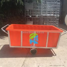 阳高K1500L塑料方箱元宝车推布车纺织厂专用桶