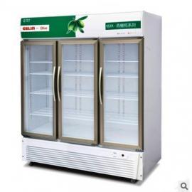 格林LC-1019F三门冰柜 冷藏展示柜 便利店冷藏柜