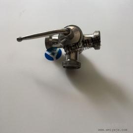 正品推出304卫生级外螺纹三通旋塞阀