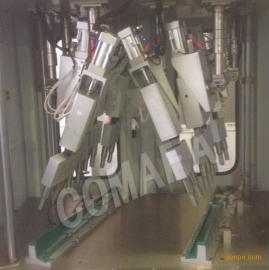 汽车塑料立柱护板铆点机|abc柱超声波多头焊接设备