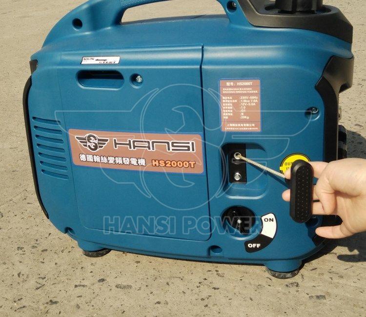 2KW小型家用数码变频汽油发电机