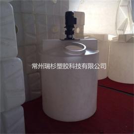 1吨塑料搅拌桶 塑料加药箱 PE计量罐 1立方pe加药箱生产厂家