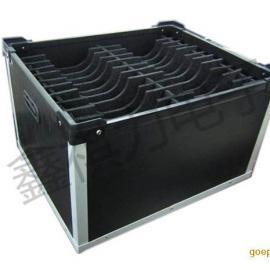 防静电中空板箱配导电网格帘盖