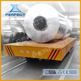 过跨车车间模具搬运车超低铝型材架管架运输车100t电动平车