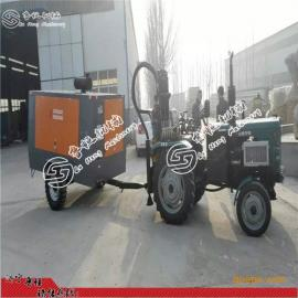 拖拉机式气动钻机 水井钻机TQZ100立式打井机