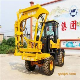 装载式护栏打桩机 便宜实用打拔钻一体气动护栏打桩机