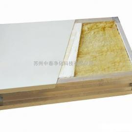 手工双玻镁岩棉板 A级防火玻镁板 洁净室玻镁岩棉彩钢板