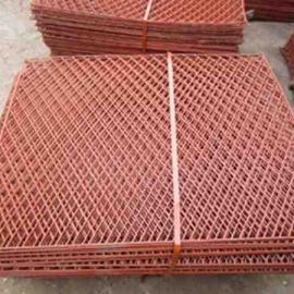 大邑县高空防坠落爬架菱形网片-防滑耐磨钢笆片规格可定做