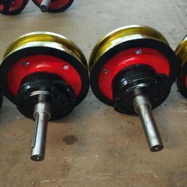 双轨行车车轮组 ZG55铸钢700*150套装轮 欧式轮