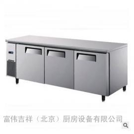 银都冰箱YPL9142 银都三门冷藏冰箱 商用平冷工作台