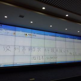 大尺寸触控框10米*1.8米拼接屏加上触控框形成拼接触控框