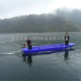 直销塑料塑胶渔船 6米农家乐娱乐设施钓鱼船 观光船pe船