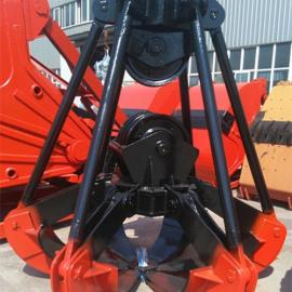 抓沙多瓣抓斗LS1030中型3立方六瓣抓斗 10T行车吊具
