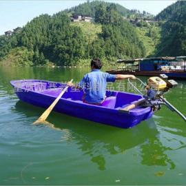 重庆 塑料小船/塑料渔船/3米带活鱼舱塑料船 厂家批发