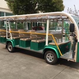 郑州精装14座电动观光车 四轮电动旅游观光车