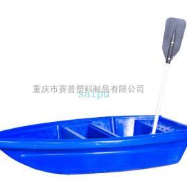 厂家直销送船桨红色尖头摔不烂pe牛筋料双层冲锋塑料渔船
