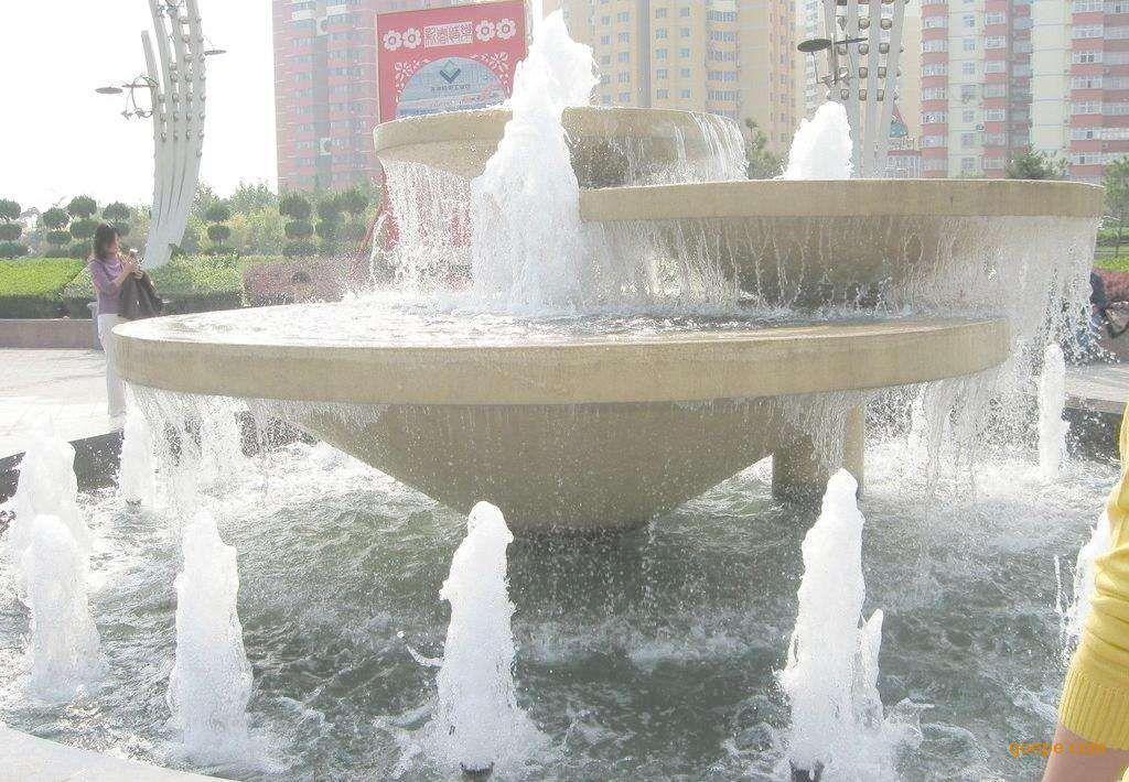 东莞雕塑厂家促销玻璃钢水钵 石雕喷水池/喷泉批发