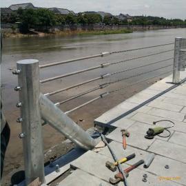 湖南景区绳索护栏,柔性防撞式护栏GC-A-7E型绳索护栏