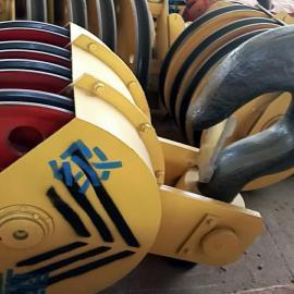 G505 100吨半封双梁吊钩组,铸钢滑轮组,双梁钩厂家