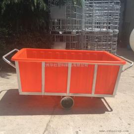 常州K1500L方形塑料方箱推布车布草车周转箱牛筋材质