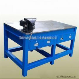 飞模工作台带挂板钳工台桌防静电多功能维修工作台模具台厂家