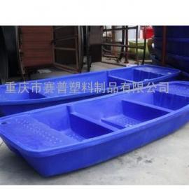 万州4米塑料船 4米滚塑渔船厂家制造 防腐耐用