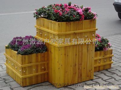 花箱花盆 木质花箱花盆,阳台种菜盆,广州木质花箱供应图片 高清大