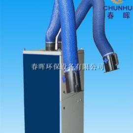 移动式双臂焊接烟尘净化器底部安装4个刹车装置的优势