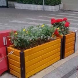 防腐木花箱园林实木花箱园林木质花箱花架