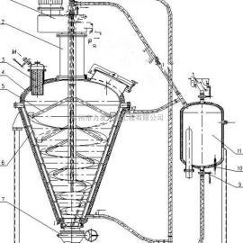 内加热锥形螺带真空混合机