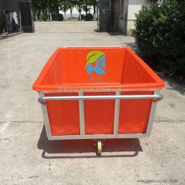 无锡K1500L方形塑料桶周转桶布草桶推布车纺织厂专用