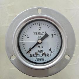 耐震带边不锈钢压力表