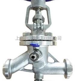 唐功KJ61F-16P焊接口抗生素截止�y �M出口加�b排�忾y
