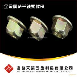 全金属法兰锁紧螺母 10级法兰螺母 GB6187 DIN6927法兰螺母