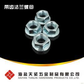 镀锌法兰螺母 平板法兰螺母 海盐高强度法兰螺母