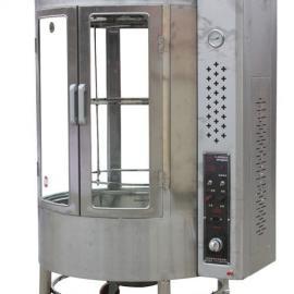 《850型自动旋转圆桶烤鸭炉气碳两用》