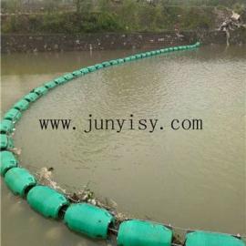 四川水电站拦污浮体 绵阳河道拦污浮筒