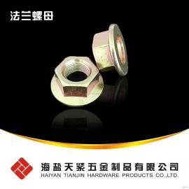 压点锁紧螺母 法兰压点锁紧螺母GB6187 海盐螺母