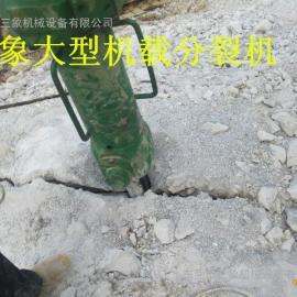 新疆乌鲁木齐工程遇岩石大不开用进口大型机载分裂机