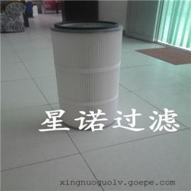 工业打磨除尘器滤筒可过滤超细粉尘 覆膜除尘滤芯