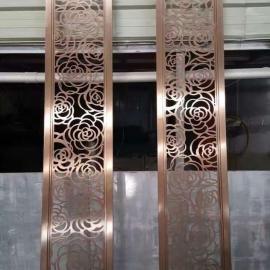 定做佛山镜面青古铜不锈钢屏风