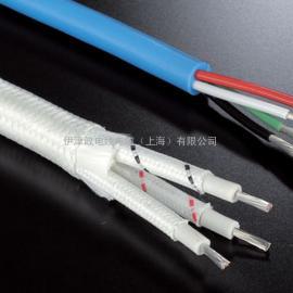 日本二宫电线镀镍导体石英玻璃编织外被400度耐热电线TN430